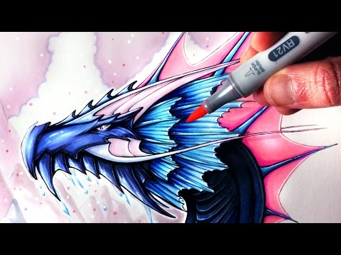 Let's Draw a WATER DRAGON - FANTASY ART FRIDAY
