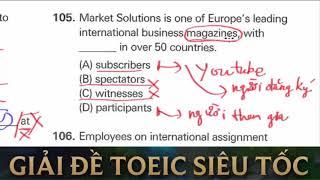 Giải chi tiết đề thi TOEIC Tháng 10 năm 2017 tuần 1 | TOEIC Part 5 mẹo hay siêu dễ