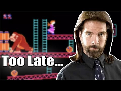 Billy Mitchell Attempts To Regain His Donkey Kong Crown, But It's Too Late.