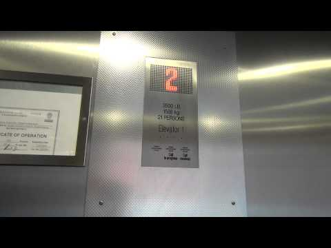 KONE EcoDisc Traction Elevator @ Germanna Community College Parking Deck Fredericksburg, VA
