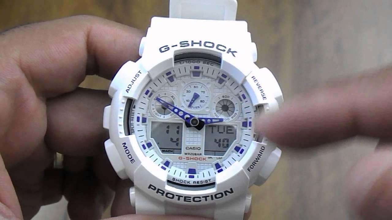 32a79974b73 Relógio Casio G-shock GA-100A-7ADR - YouTube