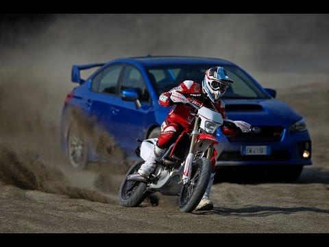 Duel - The Fight - Subaru WRX STi - Honda CRFR Supermoto m.y.