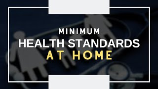 Minimum Health Standards at Home  | Usapang Pangkalusugan