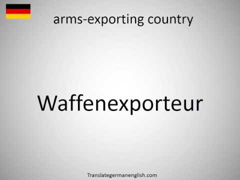 How to say arms-exporting country in German?