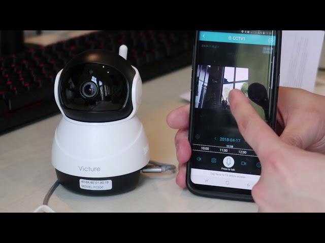 Cámara de vigilancia wifi con visión nocturna Victure PC540