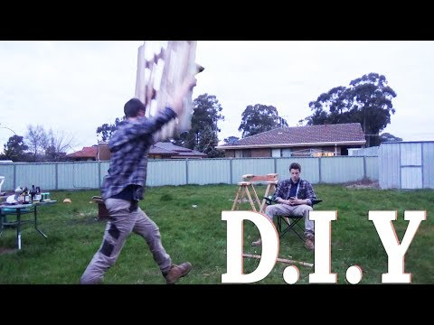 (FUNNY) DIY - Pallet | How to make a timber fire pit