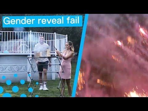 Los Anormales - Gender reveal Fireworks FAIL