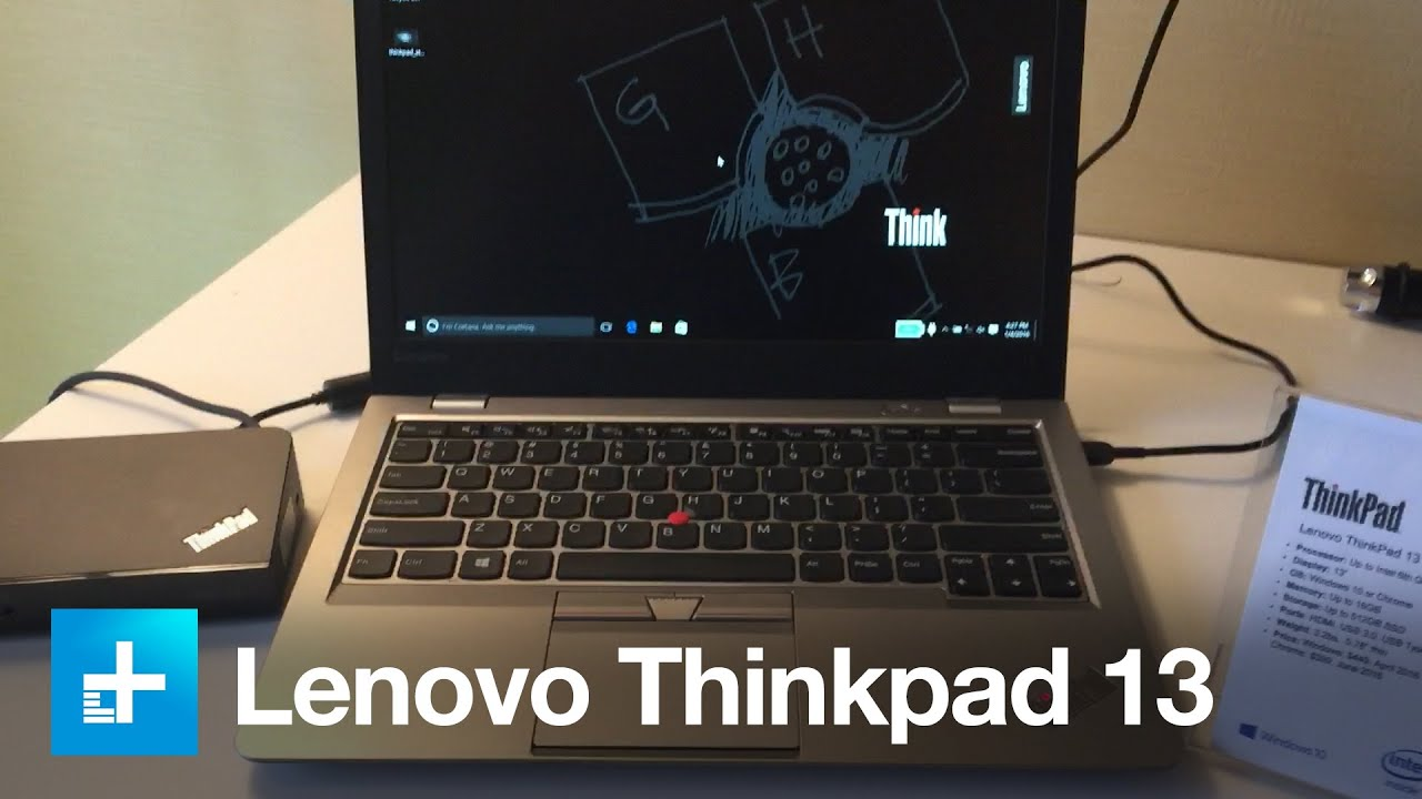 lenovo thinkpad 13 laptops hands on at ces 2016 youtube. Black Bedroom Furniture Sets. Home Design Ideas