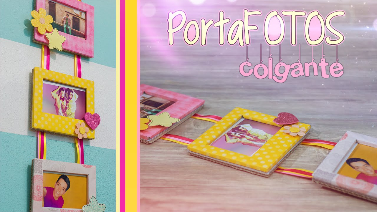 Portafotos colgante diy youtube - Como hacer marcos de fotos faciles ...