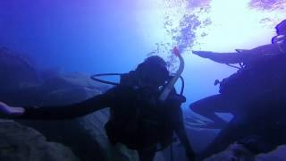 Silvia Diving in Gran Canaria with Blue Water Diving July 2015