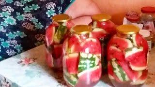 Два рецепта заготовок на зиму персиковый компот и маринованные арбузы по-Кубански.