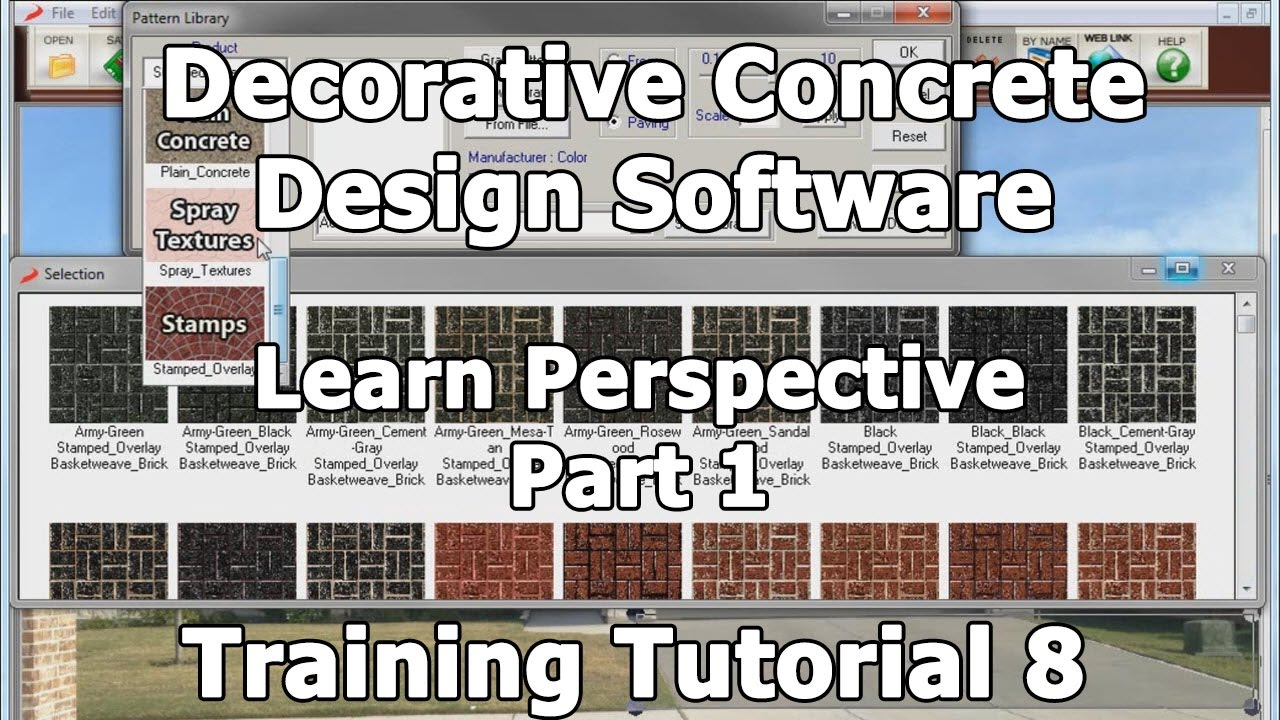 decorative concrete design training tutorial 8 learning