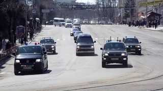 Кортеж Януковича у Вінниці - 16 автомобілів
