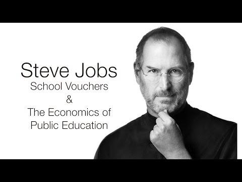 Steve Jobs On School Vouchers The Economics Of Public Education Youtube