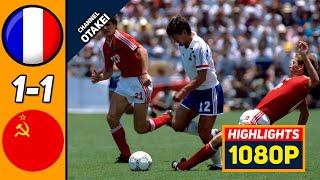 Франция СССР 1 1 Обзор Матча Чемпионата Мира 05 06 1986 HD