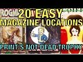 Fallout 4 - 20 Magazine Locations / Print's Not Dead Trophy