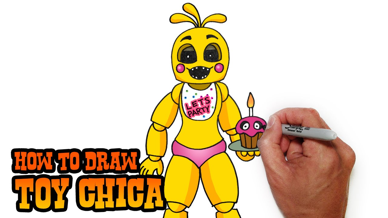 How To Draw Toy Chica Fnaf 2 Video Lesson Youtube