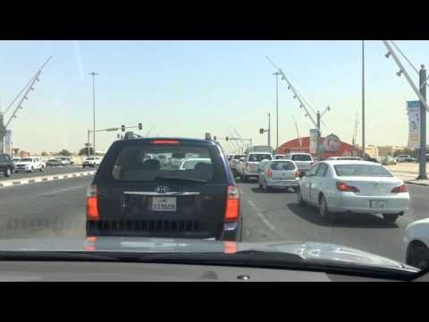 Timelapse video of Al Waab Street in Doha, Qatar