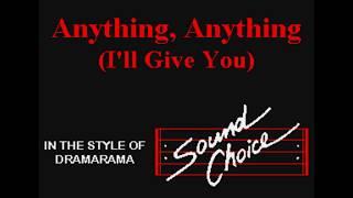 Dramarama - Anything, Anything I'll Give You (SC karaoke)