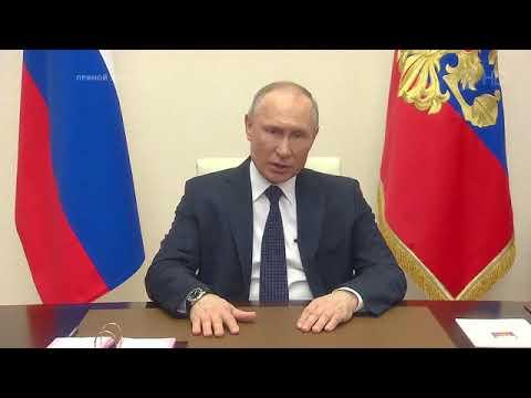 Владимир Путин выступил с новым телеобращением к Россиянам HD News 2020 04 02