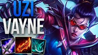 BEST ADC IN THE WORLD CARRIES 1V9 AS VAYNE (UZI) | CHALLENGER VAYNE ADC GAMEPLAY | Patch 9.4 S9