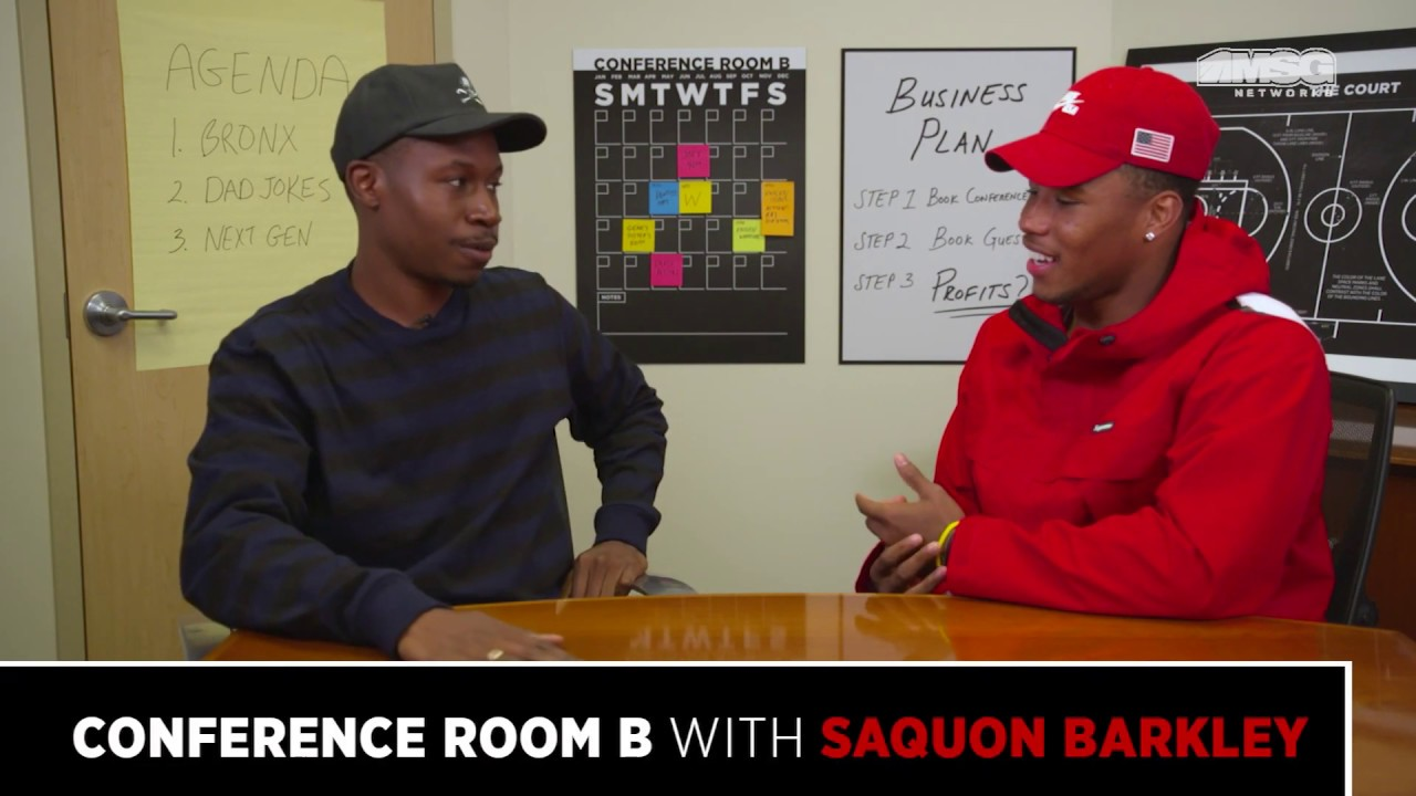 Conference Room B with Saquon Barkley (:06 Bumper)   MSG Networks