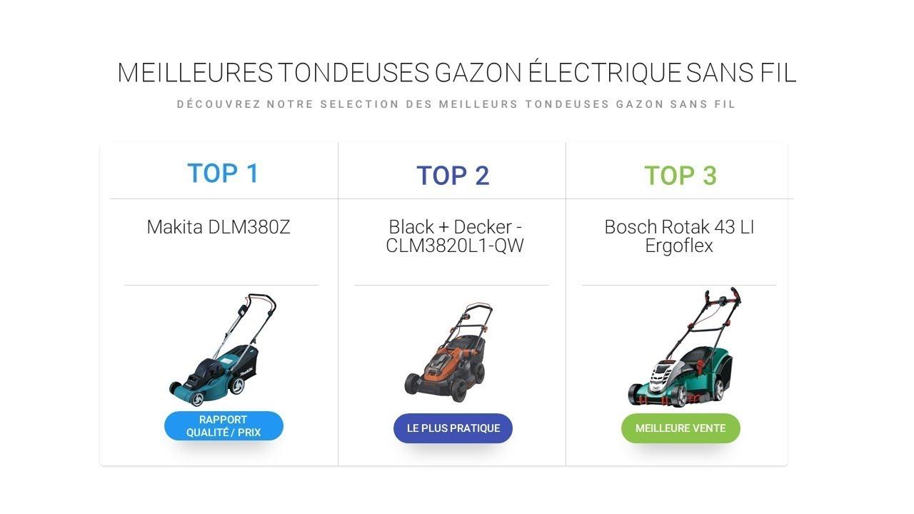 Comparatif tondeuse gazon electrique sans fil la - Comparatif tondeuse electrique ...