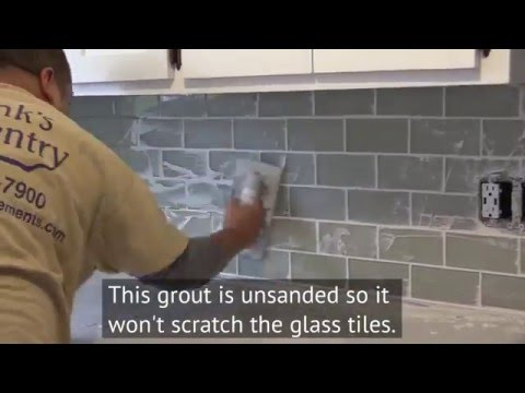 How to Install a Glass Subway Tile Backsplash in New Jersey