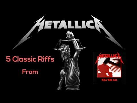 5 Essential Metallica Guitar Riffs from Kill Em All  Steve Stine Guitar Less