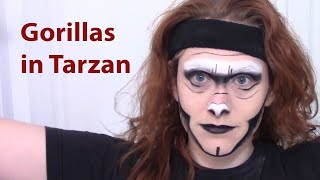 Gorilla Makeup Instructions For Tarzan Cast