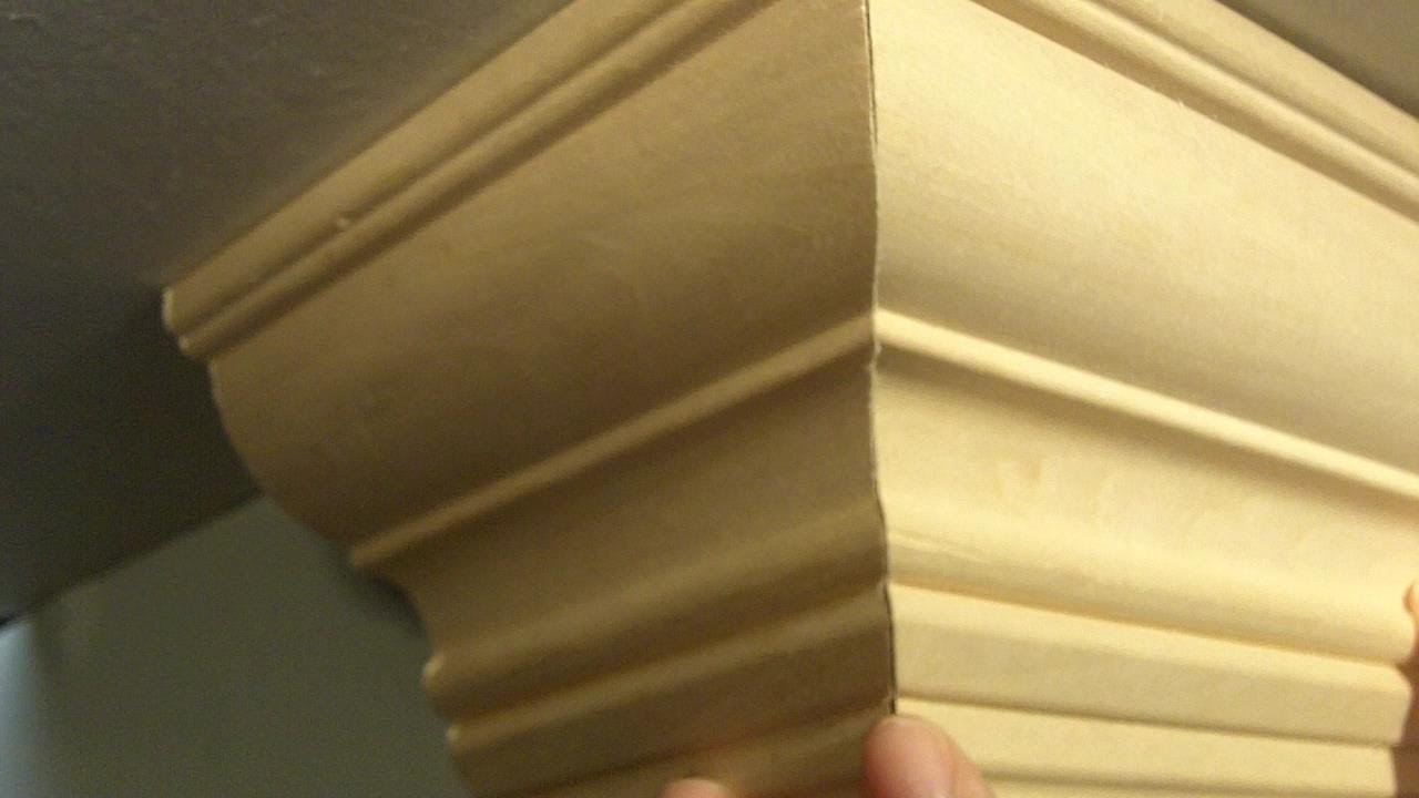 How to Cut Crown Molding Outside Corners for Beginners - YouTube