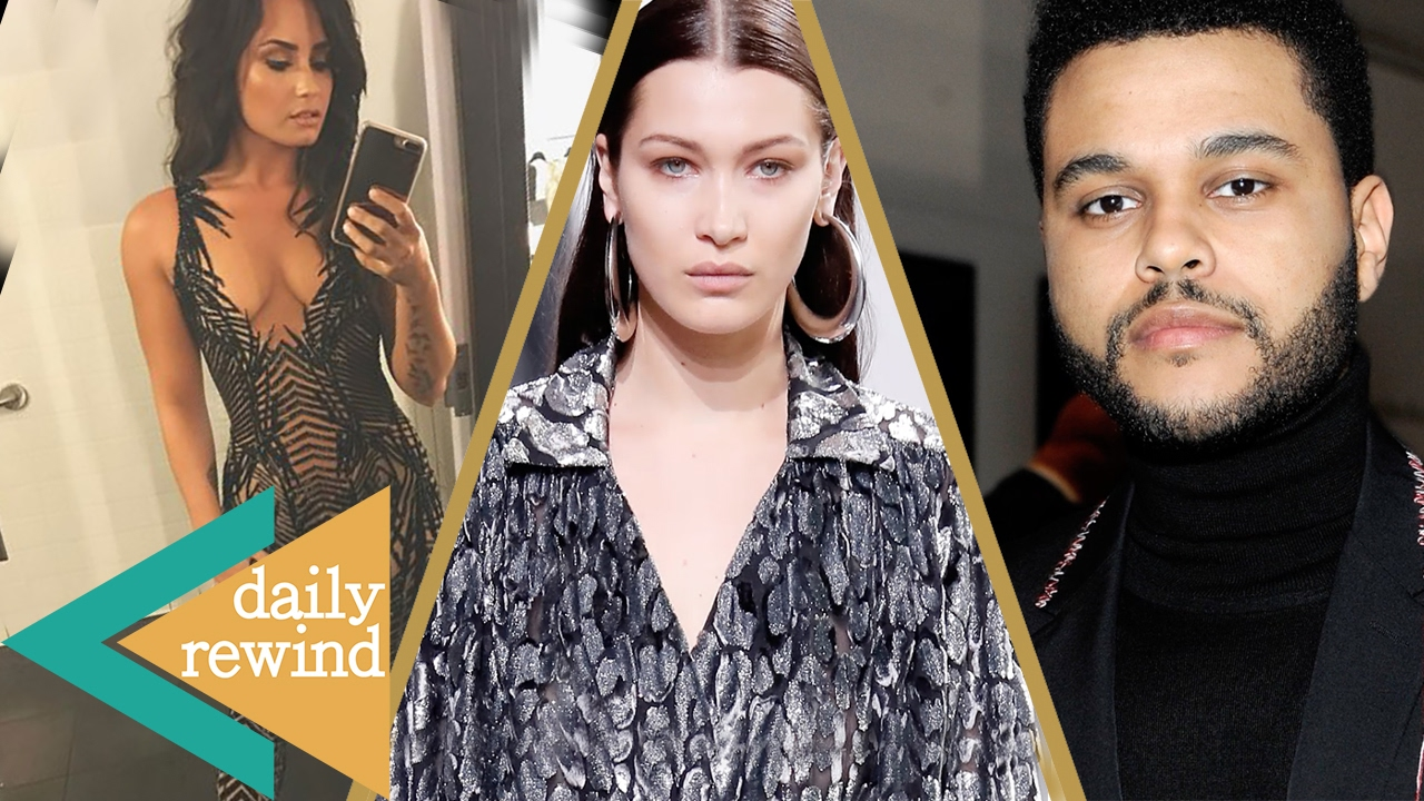 Bella Hadid Cries Twice At 2017 Nyfw Over The Weeknd Demi Lovato Breaks Instagram In Sexy Catsuit