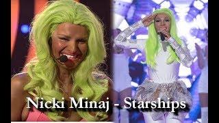 Twoja Twarz Brzmi Znajomo VS Tvoje Tvář Má Známý Hlas | Nicki Minaj - Starships