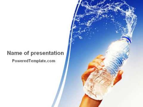 Mineral Water Powerpoint Template By Poweredtemplate.Com - Youtube