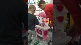 Игровая детская кухня 889-156 Home Kitchen, вода , свет, звук, 65 предметов