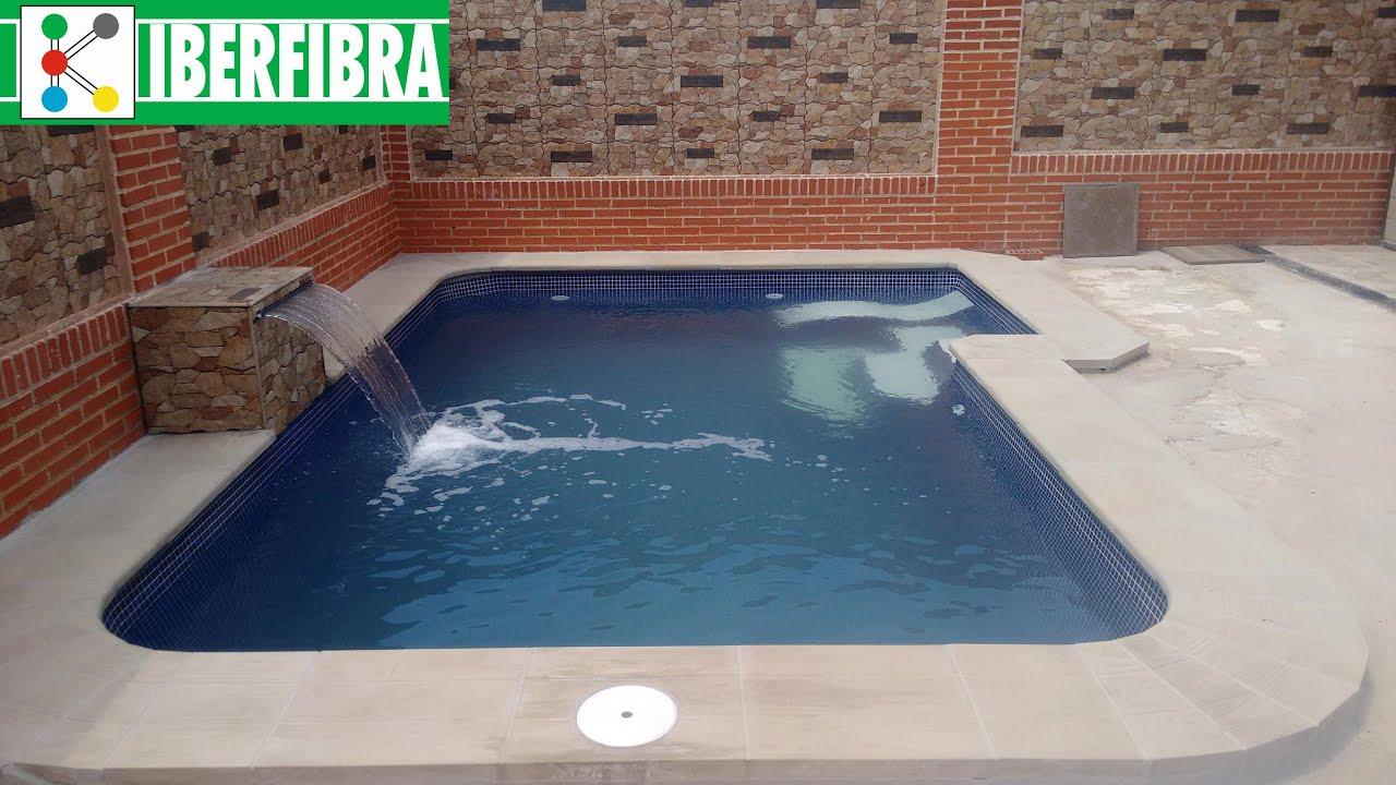 Piscina de iberfibra modelo compacta 5l youtube - Modelo de piscina ...