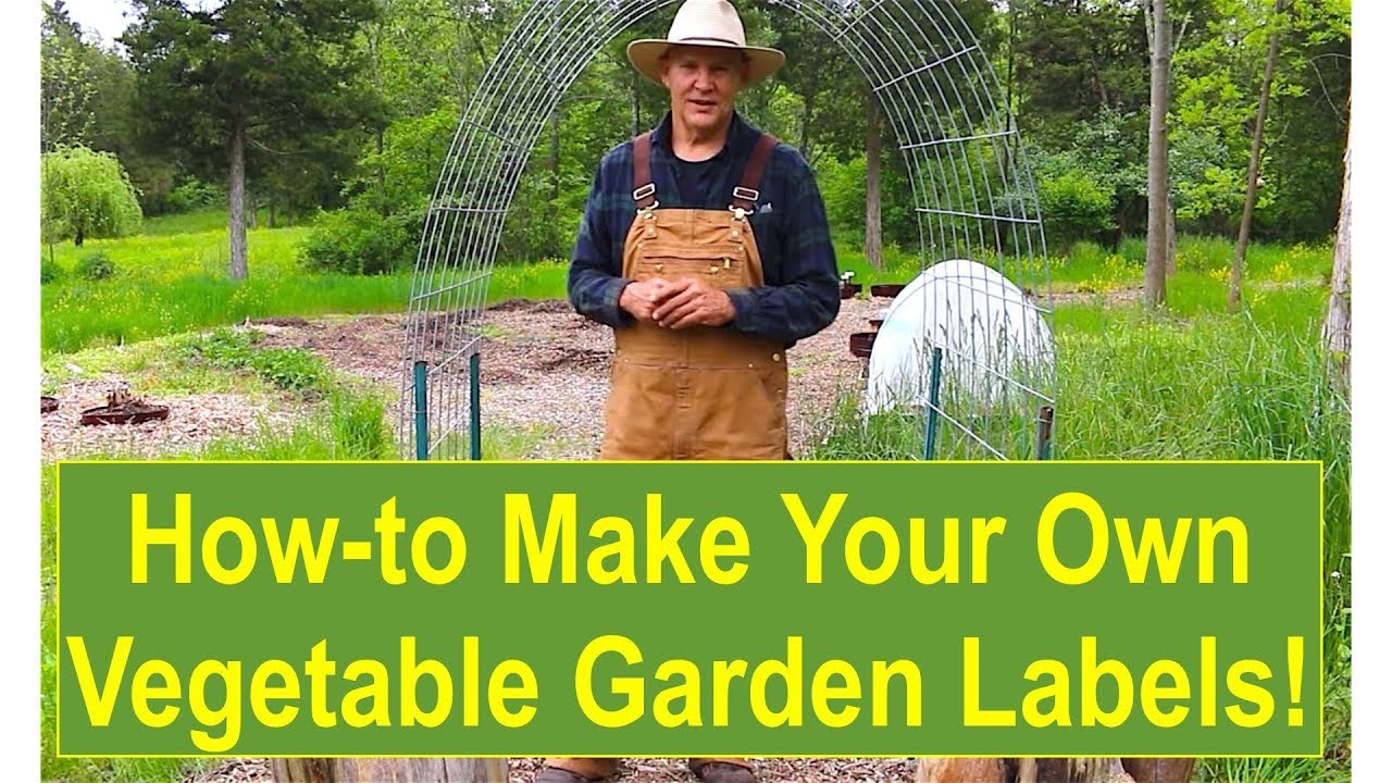 How To Make Your Own Vegetable Garden Labels Youtube