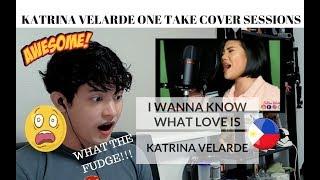 [REACTION] VOCAL BEAST!!! Katrina Velarde - I Wanna Know What Love Is | One Take Sessions MP3