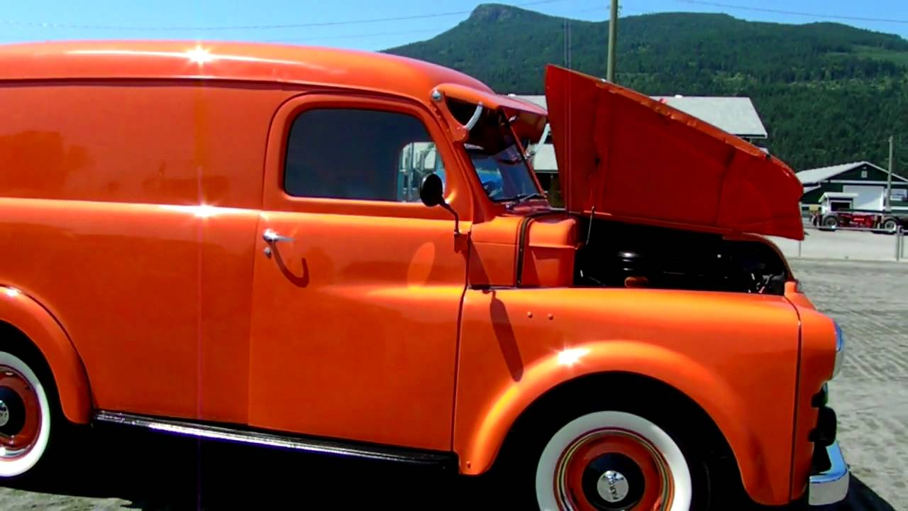 1951 Fargo Panel Truck Antique Truck Show Duncan BC 2012 - YouTube