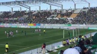 松本山雅 田中隼磨 PK レノファ山口FC 20160326 田中隼磨 検索動画 23