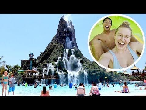 VOLCANO BAY NEW WATERPARK!!!   ORLANDO FLORIDA
