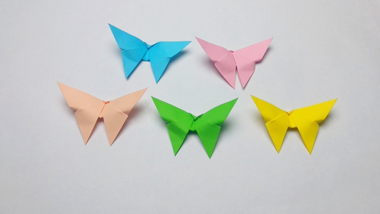 3D Origami Animals BUTTERFLY Instructions - 3d Origami Animals