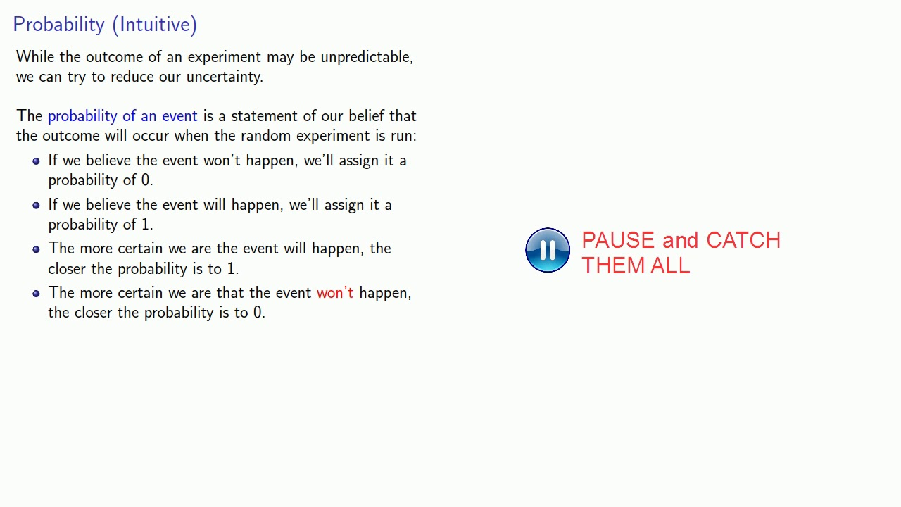 Introduction to Probability - YouTube