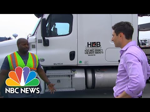 Meet The Truckers Keeping U.S. Store Shelves Stocked During Coronavirus Crisis | NBC News NOW