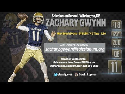Zach Gwynn 2016 Highlights, Salesianum School