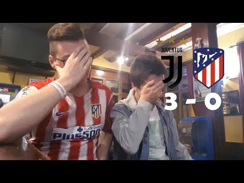 Juventus v/s Atletico De Madrid 3-0 REACCIONES DE HINCHAS