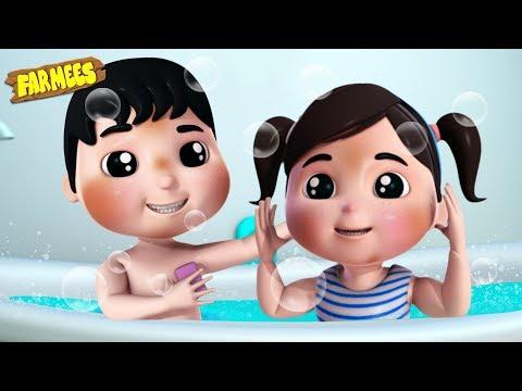 Bath Song | Baby Songs & Nursery Rhymes By Farmees