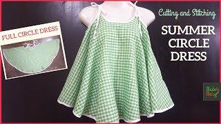 Summer Circle Dress   Cutting and Stitching in Hindi/Urdu (English Subtitle)