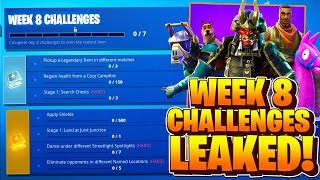 Week 8 Challenges LEAKED! Fortnite Season 6 Week 8 ALL CHALLENGES! Battle Pass Challenges Week 8