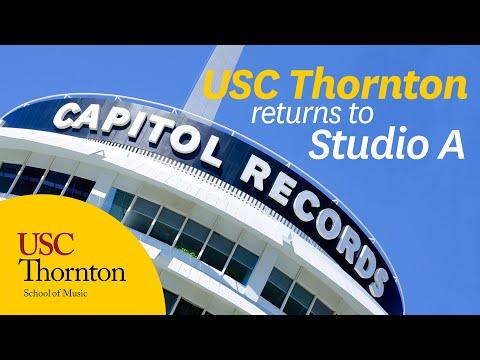 USC Thornton Returns to Capitol Records Studio A